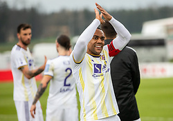 Marcos Magno Morales Tavares of Maribor celebrates after winning during Football match between NK Triglav and NK Maribor in 25th Round of Prva liga Telekom Slovenije 2018/19, on April 6, 2019, in Sports centre Kranj, Slovenia. Photo by Vid Ponikvar / Sportida