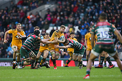Thomas Young of Wasps drives forward with the ball - Mandatory by-line: Arron Gent/JMP - 15/02/2020 - RUGBY - Welford Road Stadium - Leicester, England - Leicester Tigers v Wasps - Gallagher Premiership Rugby