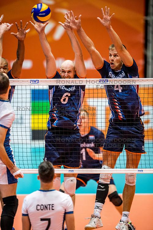 06-09-2018 NED: Netherlands - Argentina, Doetinchem<br /> First match of Gelderland Cup / Jasper Diefenbach #6 of Netherlands, Thijs ter Horst #4 of Netherlands