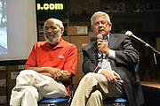"Jackson, MS. 9/9/2015 Photographer and author Ed Meek sits with civil rights icon James Meredith at Lemuria Books. Meek was the school photographer on the campus of Ole Miss in 1962 during the riots while James Meredith, the first black student enrolled at The University of Mississippi. Meek just released a new book called ""RIOT"" about his time covering the riot that  ensued while Meredith enrolled on campus on Sept. 30, 1962 and the days that followed.  ©Suzi Altman"