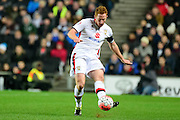 MK Dons defender Dean Lewington   during the The FA Cup Third Round Replay match between Milton Keynes Dons and Northampton Town at stadium:mk, Milton Keynes, England on 19 January 2016. Photo by Dennis Goodwin.