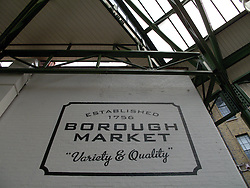 UK ENGLAND LONDON 27JUL13 - Signage at Borough Market, Southwark, London.<br /> <br /> It is one of the largest and oldest food markets in London, and sells a large variety of foods from all over the world.<br /> <br /> <br /> <br /> jre/Photo by Jiri Rezac<br /> <br /> <br /> <br /> © Jiri Rezac 2013
