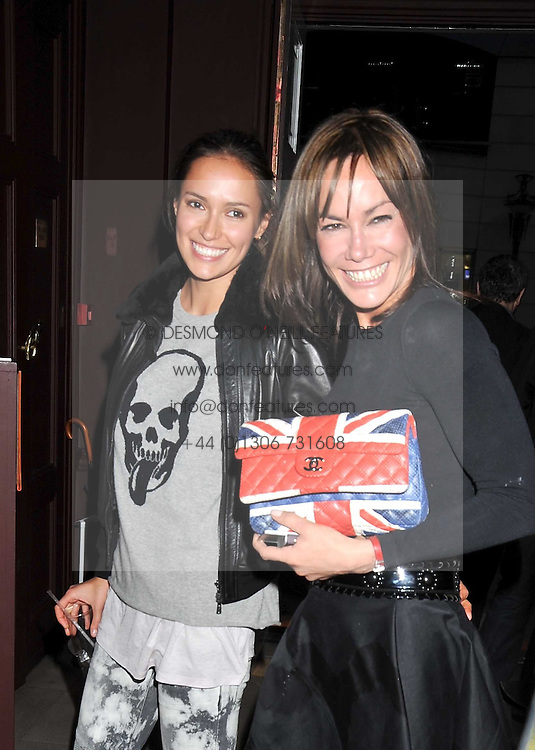 Left to right, SASHA VOLKOVA and TARA PALMER-TOMKINSON  at a reception to celebrate the launch of Liberatum's Russian Anglo Arts Festival (Anglomockba)  held at Sketch, London on 27th April 2009.