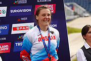 Podium BMX Finals Women, Yaroslava Bordarenko (Russian Federation) bronze medal during the Cycling European Championships Glasgow 2018, at Glasgow BMX Centre, in Glasgow, Great Britain, Day 9, on August 10, 2018 - Photo luca Bettini / BettiniPhoto / ProSportsImages / DPPI<br /> - Restriction / Netherlands out, Belgium out, Spain out, Italy out -