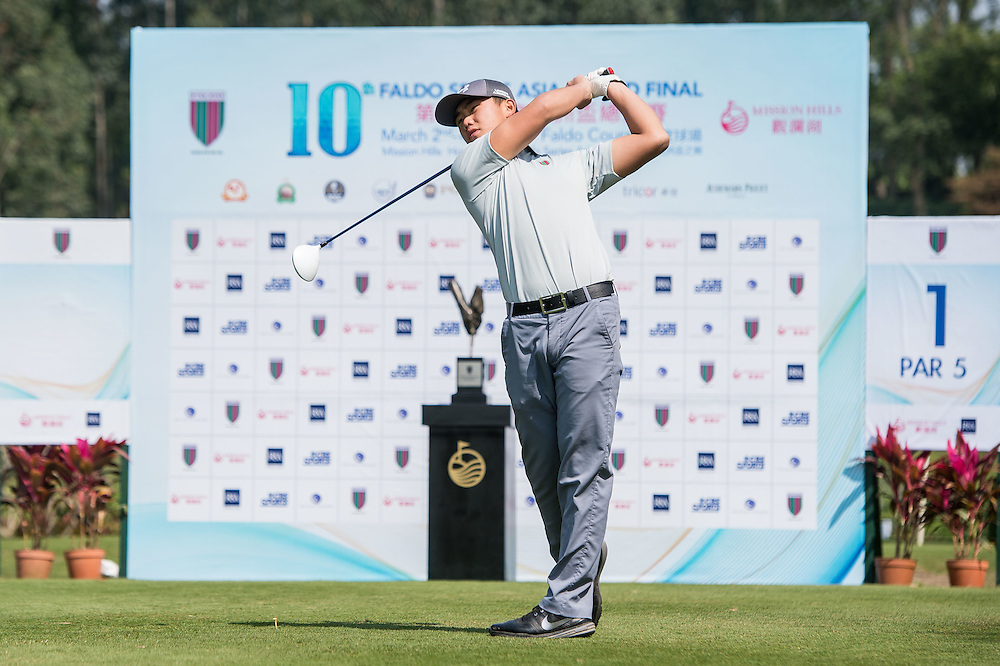 Yin Feng Ru of China in action during day one of the 10th Faldo Series Asia Grand Final at Faldo course in Shenzhen, China. Photo by Xaume Olleros.