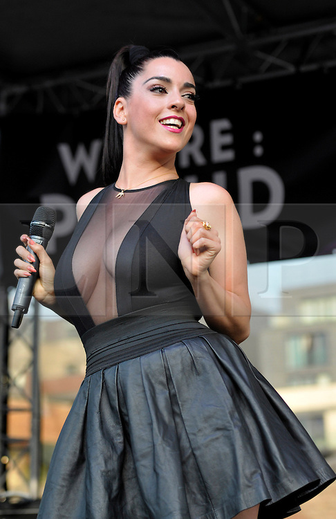 © Licensed to London News Pictures. 13/07/2013. Bristol, UK.  Ruth Lorenzo, formerly from X Factor, plays at the Bristol Pride Festival.  13 July 2013.<br /> Photo credit : Simon Chapman/LNP