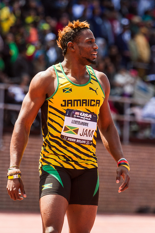 Penn Relays, USA vs the World, mens 4 x 200 meter relay, Livermore, Jamaica