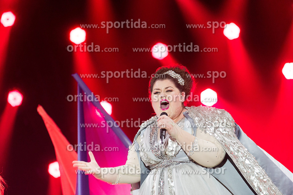18.05.2015, Stadthalle, Wien, AUT, Eurovision Songcontest Vienna 2015, Kostümrpobe des Ersten Semifinales, im Bild Bojana Stamenov aus Serbien // Bojana Stamenov from Serbia during dress rehearsal of the 1st semi final for Eurivision Songcontest Vienna 2015 at Stadthalle in Vienna, Austria on 2015/05/18, EXPA Pictures © 2015, PhotoCredit: EXPA/ Michael Gruber