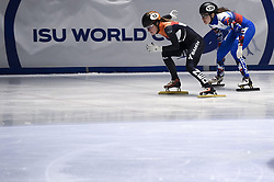 February 8, 2019 - Torino, Italia - Foto LaPresse/Nicolò Campo .8/02/2019 Torino (Italia) .Sport.ISU World Cup Short Track Torino - 500 meter Ladies Heats.Nella foto: Yara van Kerkhof, Emina Malagich..Photo LaPresse/Nicolò Campo .February 8, 2019 Turin (Italy) .Sport.ISU World Cup Short Track Turin - 500 meter Ladies Premliminaries.In the picture: Yara van Kerkhof, Emina Malagich (Credit Image: © Nicolò Campo/Lapresse via ZUMA Press)