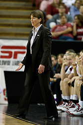 March 29, 2010; Sacramento, CA, USA; Stanford Cardinal head coach Tara VanDerveer during the first half against the Xavier Musketeers in the finals of the Sacramental regional in the 2010 NCAA womens basketball tournament at ARCO Arena. Stanford defeated Xavier 55-53.