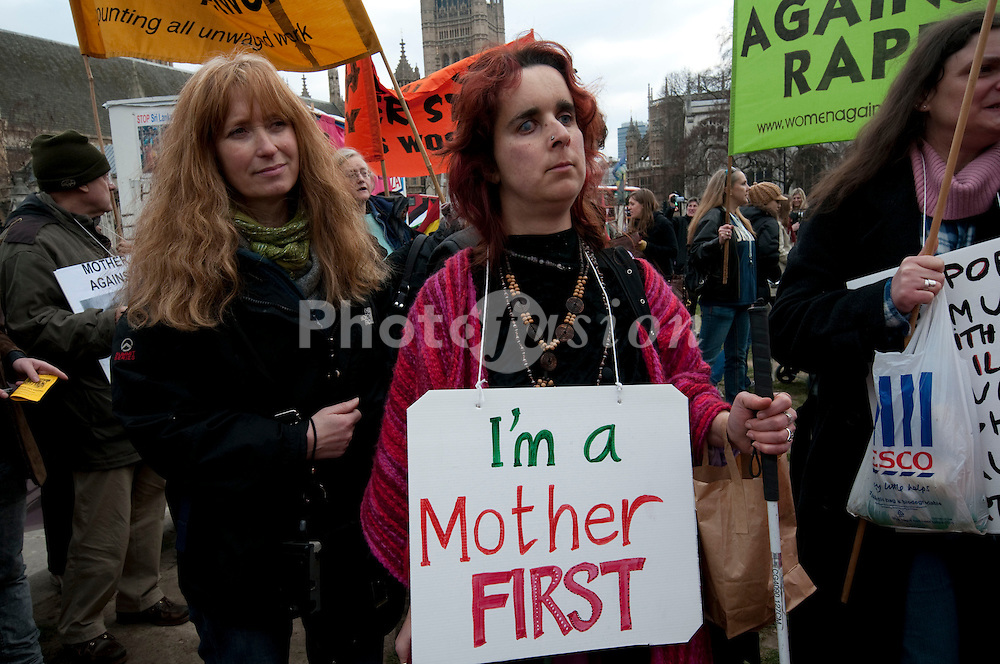 March & protest in London for Mothers struggling due to abuse. war, immigration, poverty, overwork, underpay and more