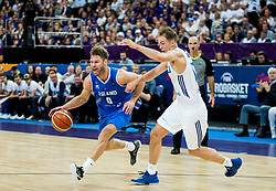 Hlynur Baeringsson of Iceland vs Petteri Koponen of Finland during basketball match between National Teams of Finland and Iceland at Day 7 of the FIBA EuroBasket 2017 at Hartwall Arena in Helsinki, Finland on September 6, 2017. Photo by Vid Ponikvar / Sportida
