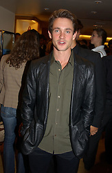 Actor HUGH DANCY at a party hosted by Burberry to launch their special collection in aid of Breakthrough Breast Cancer, held at 21-23 New Bond Street, London W1 on 5th October 2004.<br /><br />NON EXCLUSIVE - WORLD RIGHTS