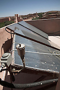 Solar panels for hot water, Morocco