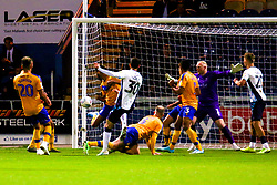 Jack Roles of Cambridge United shoots at goal to open the scoring - Mandatory by-line: Ryan Crockett/JMP - 17/09/2019 - FOOTBALL - One Call Stadium - Mansfield, England - Mansfield Town v Cambridge United - Sky Bet League Two