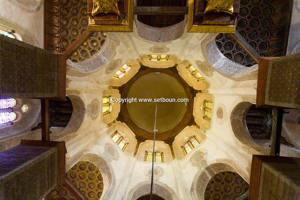 Egypt . Cairo : the mausoleum , after renovation, of Sultan Al Mansour Qalawun - NM43- madrasa ,  mausoleum, hospital in Al Mu'izz street . Bayn al Qasrayn.  Cairo +
