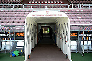 The Players Tunnel during the EFL Sky Bet League 1 match between Northampton Town and Millwall at Sixfields Stadium, Northampton, England on 15 October 2016. Photo by Dennis Goodwin.