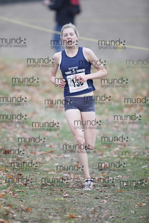 King City, Ontario ---09-11-15--- Joanna Brown of the Bytown Storm competes at the Athletics Ontario Cross Country Championships in King City, Ontario, November 16, 2009..GEOFF ROBINS Mundo Sport Images