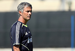 JOSE MOURINHO.REAL MADRID HEAD COACH.REAL MADRID TRAINING.LOS ANGELES, CALIFORNIA, USA.29 July 2010.GAF21585..  .WARNING! This Photograph May Only Be Used For Newspaper And/Or Magazine Editorial Purposes..May Not Be Used For, Internet/Online Usage Nor For Publications Involving 1 player, 1 Club Or 1 Competition,.Without Written Authorisation From Football DataCo Ltd..For Any Queries, Please Contact Football DataCo Ltd on +44 (0) 207 864 9121