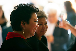 """Director/producer Dianne Fukami, left, and producer Debra Nakatomi arrive at the CAAM Film Festival's for the world premiere of their documentary """"An American Story: Norman Mineta and His Legacy"""" at the Castro Theatre, Thursday, May 10, 2018 in San Francisco, Calif. (D. Ross Cameron/SF Chronicle)"""