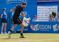 Tennis - 2017 Aegon Championships [Queen's Club Championship] - Day Three, Wednesday<br /> <br /> Men's Singles, Round of 16 - Grigor Dimitrov (BUL) vs Julien Benneteau (FRA)<br /> <br /> Grigor Dimitrov (BUL) in action on centre court at Queens Club<br /> <br /> COLORSPORT/DANIEL BEARHAM