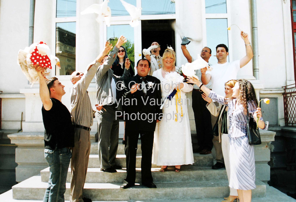 15/8/2004.Diane and Florescu Agustin pictured at their wedding.Picture Dylan Vaughan