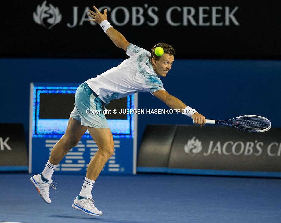 Tomas Berdych (CZE)<br /> <br /> Tennis - Australian Open 2015 - Grand Slam ATP / WTA -  Melbourne Olympic Park - Melbourne - Victoria - Australia  - 29 January 2015.
