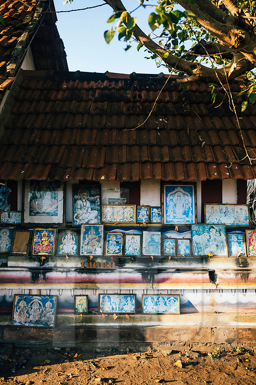 A small Hindu shrine near a fishing village, Jaffna, Sri Lanka, Asia