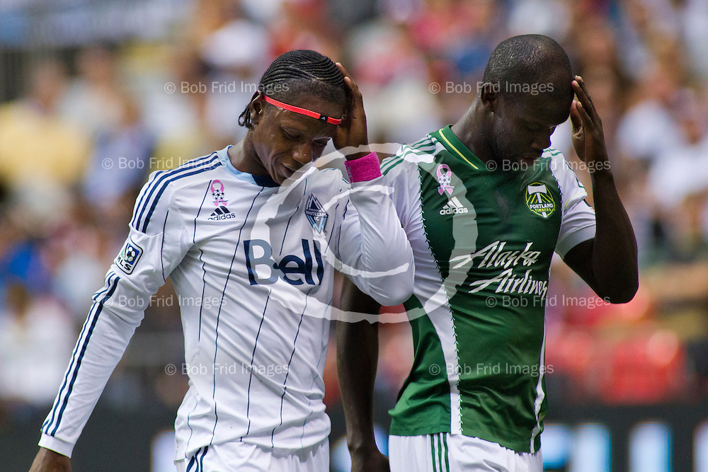 06 October 2013:   Action during a game between Vancouver Whitecaps FC and Portland Timbers on Bell Pitch at BC Place Stadium in Vancouver, BC, Canada. Final Score: Vancouver 2 - Portland 2  ****(Photo by Bob Frid - Vancouver Whitecaps 2013 - All Rights Reserved)***
