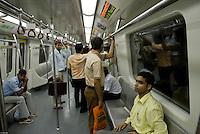 New Delhi metro network, India.
