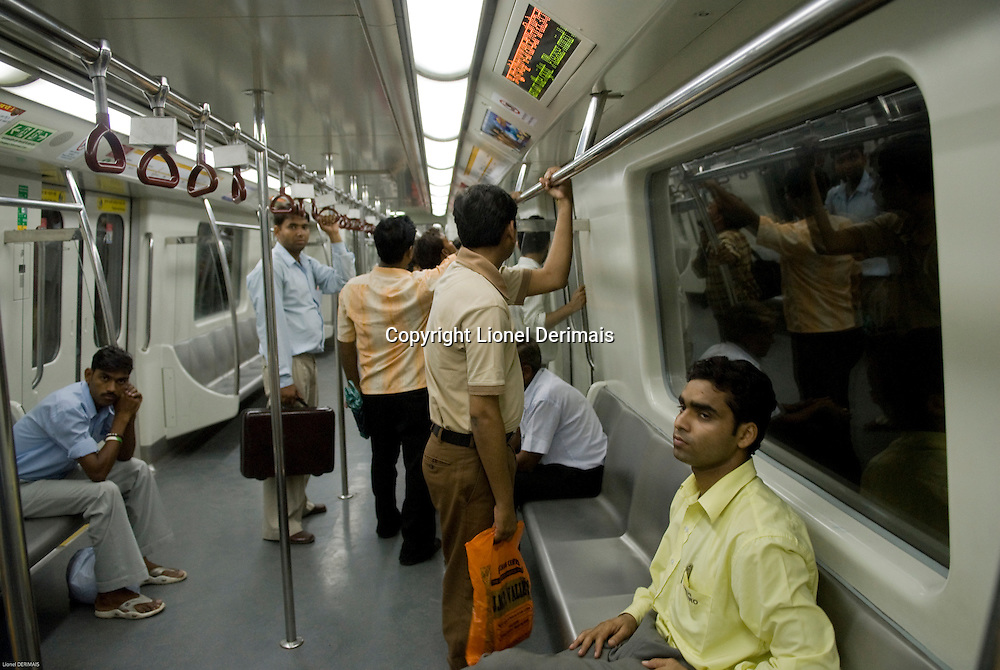 New Delhi metro network, India.