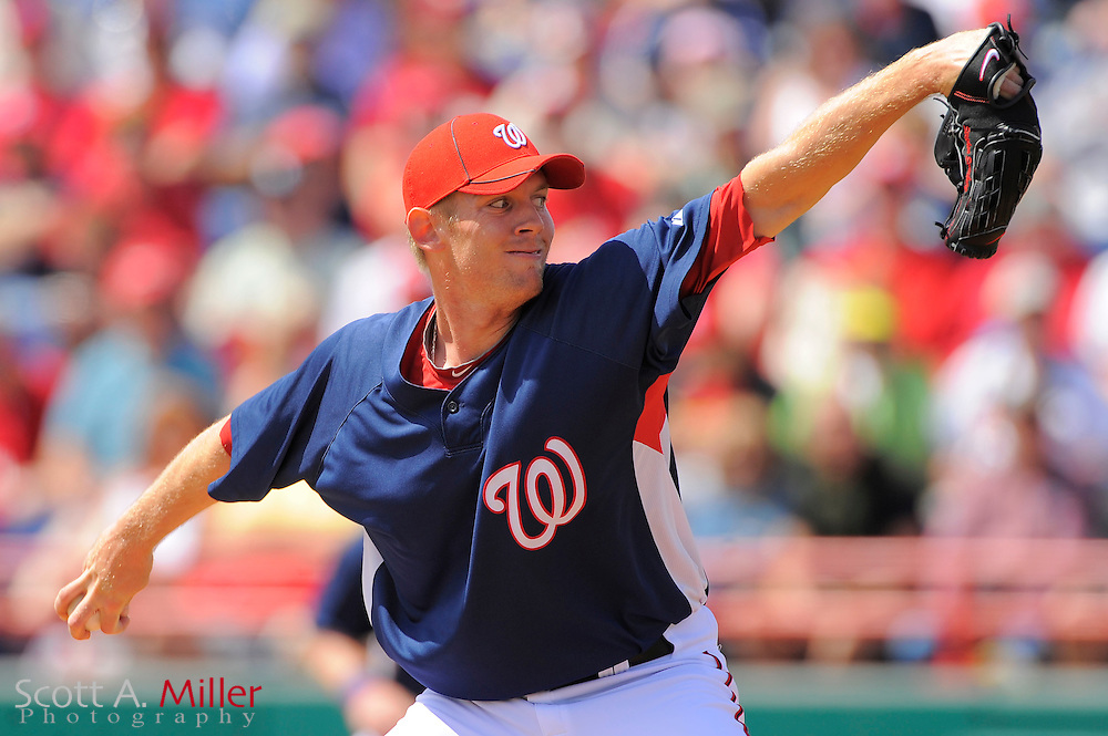 March 14, 2010; Viera, FL, USA; Washington Nationals pitcher Stephen Strasburg (37) during the Nationals game against the St. Louis Cardinals at Space Coast Stadium. ©2010 Scott A. Miller