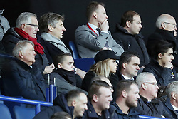 (Top Row) general director Edwin van der Sar of Ajax <br />(Front row) technical director Marc Overmars of Ajax during the Dutch Eredivisie match between Vitesse Arnhem and Ajax Amsterdam at Gelredome on March 04, 2018 in Arnhem, The Netherlands