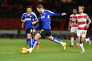 Dan Gardner of Chesterfield FC  during the Sky Bet League 1 match between Doncaster Rovers and Chesterfield at the Keepmoat Stadium, Doncaster, England on 24 November 2015. Photo by Ian Lyall.