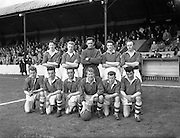 28/03/1959 <br /> 03/28/1959<br /> 28 March 1959 <br /> Soccer: F.A.I. Cup Semi-final St Patrick's Athletic v Cork Hibernians at Tolka Park, Dublin. The St Patrick's Athletic team. team.