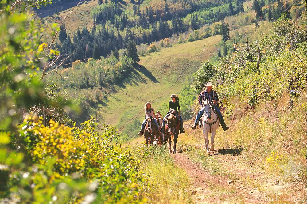 horseback riding at Park City Mountain Resort, Utah USA