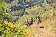horseback riding at Park City Mountain Resort, Utah USA