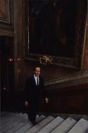HRH Albert of Monaco,on palace stairs. palace of monaco   S.A.S. Albert de Monaco dans les escaliers du palais. Monaco  P0005187  L3202  R245/23