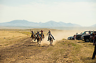 Fort Belknap Indian Reservation, Milk River Memorial Horse Races, Women Jackpot Relay, winner, Belinda Horn .