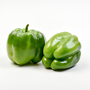 Fresh and organic Green Bell Pepper on white background
