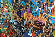 Argentina, details of a street mural
