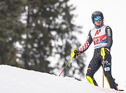 26.01.2020, Streif, Kitzbühel, AUT, FIS Weltcup Ski Alpin, Slalom, Herren, im Bild Istok Rodes (CRO) // Istok Rodes of Croatia DNF his run in the men's Slalom of FIS Ski Alpine World Cup at the Streif in Kitzbühel, Austria on 2020/01/26. EXPA Pictures © 2020, PhotoCredit: EXPA/ Johann Groder