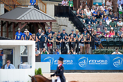 Team GB watching, Cook Kristina, GBR, Billy the Red<br /> World Equestrian Games - Tryon 2018<br /> © Hippo Foto - Sharon Vandeput<br /> 13/09/2018