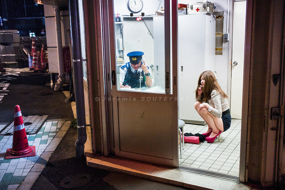 Tokyo, October 12 2013 - Midnight at the police station.
