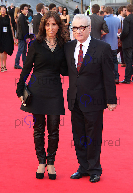 Olivia Harrison; Martin Scorsese George Harrison: Living in the Material World UK Premiere, BFI Southbank,London, UK. 02 October 2011 Contact: Rich@Piqtured.com +44(0)7941 079620 (Picture by Richard Goldschmidt)