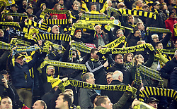 November 21, 2017 - Dortmund, Germany - Borussia Dortmund Fans.during UEFA Champion  League Group H Borussia Dortmund between Tottenham Hotspur played at Westfalenstadion, Dortmund, Germany 21 Nov 2017  (Credit Image: © Kieran Galvin/NurPhoto via ZUMA Press)