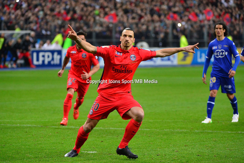 Joie Zlatan IBRAHIMOVIC  - 11.04.2015 -  Bastia / PSG - Finale de la Coupe de la Ligue 2015<br />