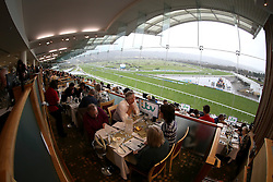 Racegoers soak up the hospitality in the Panoramic Restaurant at Cheltenham Racecourse