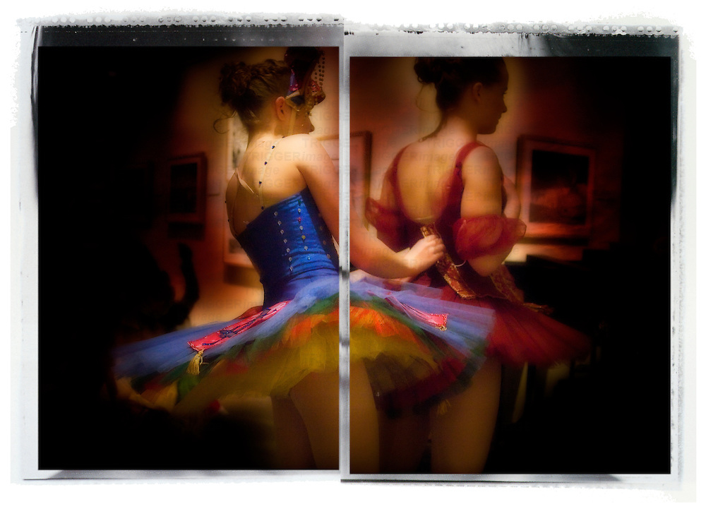Ballet Dancers getting ready to dance..