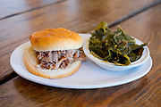 Pulled Pork BBQ Sandwich w/ Collard Greens at Hillsborough BBQ Company ($7.59) - OFF: RDU, make up lunch